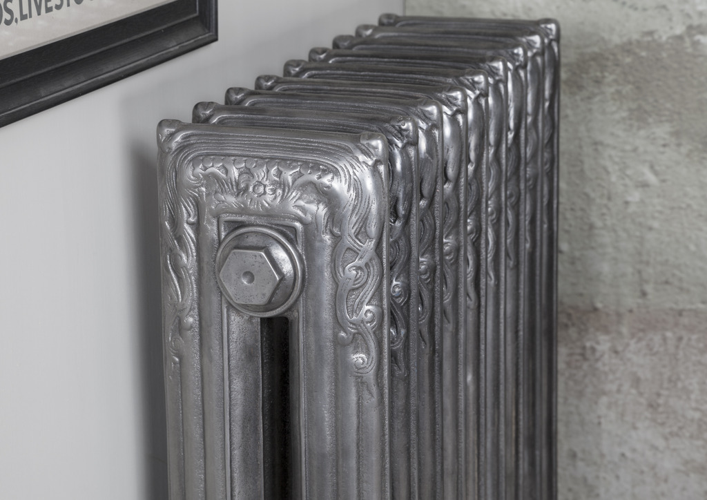 Hand Polished Cast Iron Scroll Radiator made by Carron and Sold Worldwide by UKAA