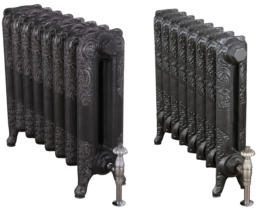 Cast Iron 1 Column Rococo Radiator made by Carron and Sold Worldwide by UKAA