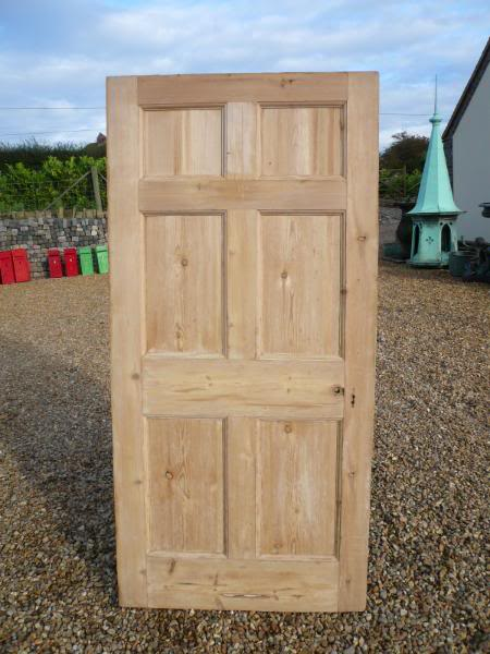 Reclaimed Georgian 6 Panel Pine Door