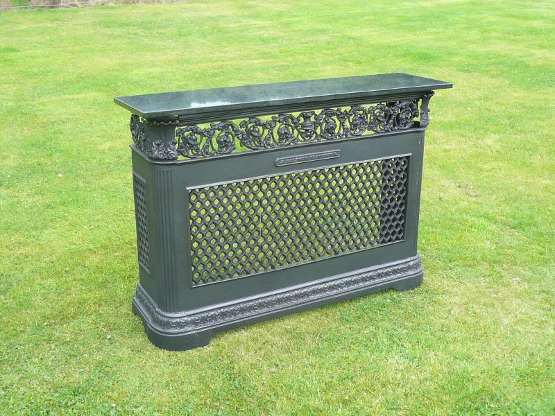 Cast iron radiator cover with granite top - Cast iron radiator covers ...