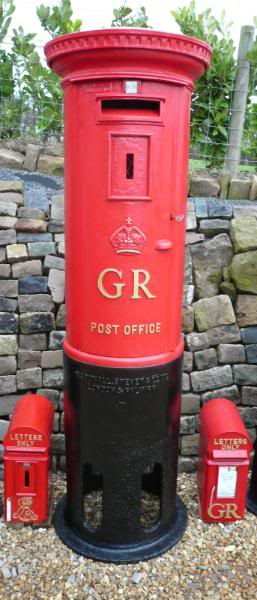 Fully Refurbished Original McDowall, Steven And Co GR pillar box ready for fitting