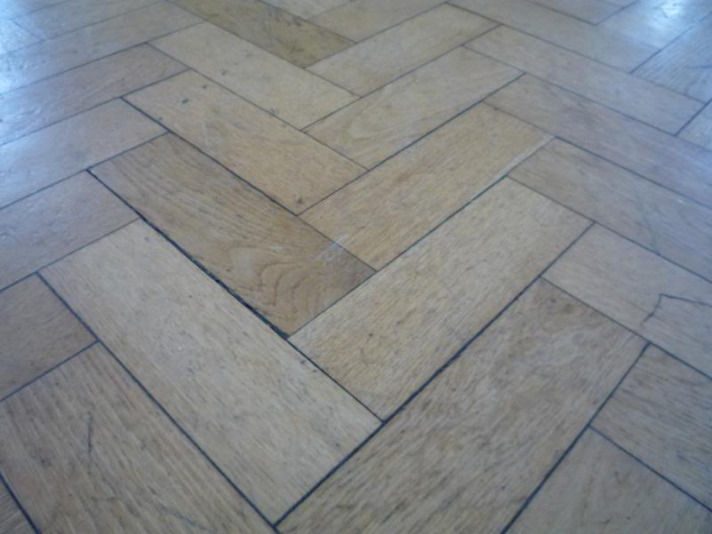 Original reclaimed oak flooring for sale in a parquet design which can be laid in a herringbone style