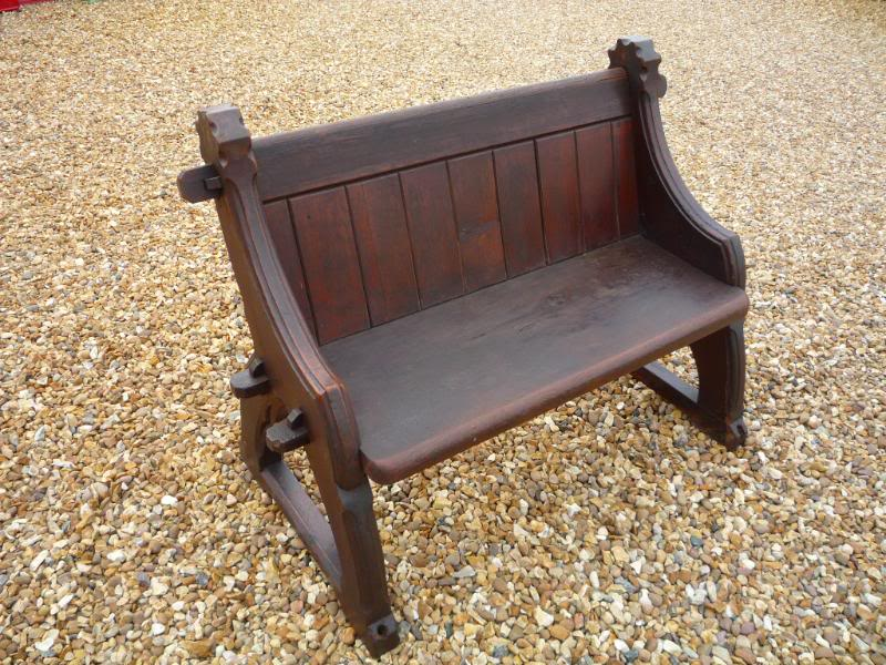 Antique Used Reclaimed Gothic Pitch Pine Church Pew ...