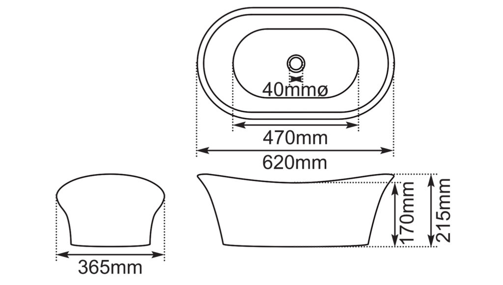 Dimensions Of Hurlingham Copper Bateau Basin With Nickel Interior