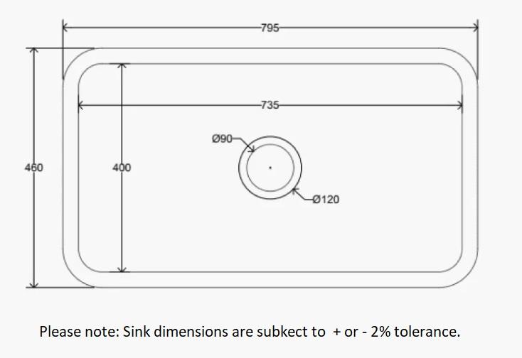 Dimensions Of Lostock Sink Company Samlesbury Sink