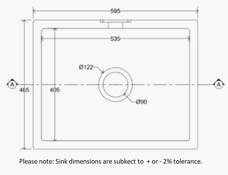 Dimensions Of Whitebirk Sink Company Mellor Sink