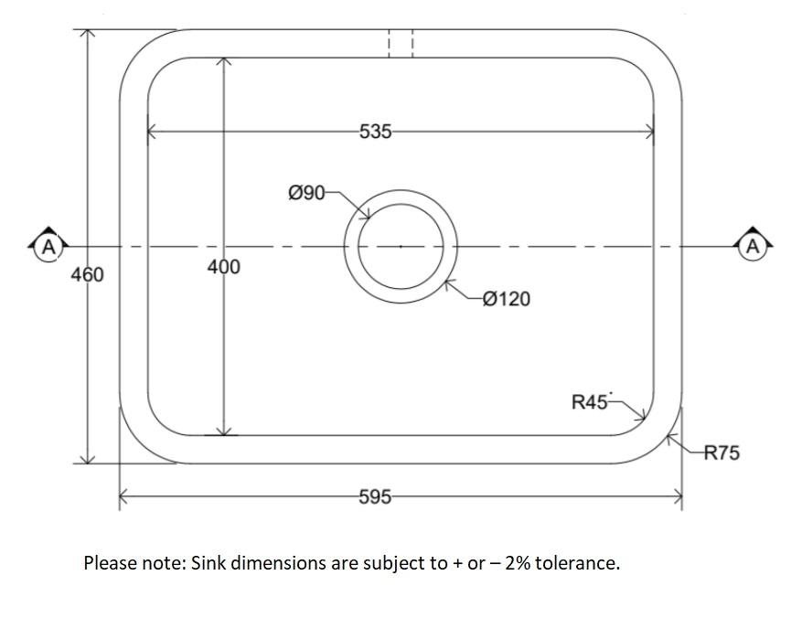 Dimensions Of Whitebirk Sink Company Barrow Sink
