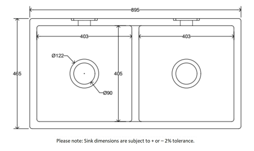 Dimensions Of Ribbleton Sink Company Cleveleys Sink