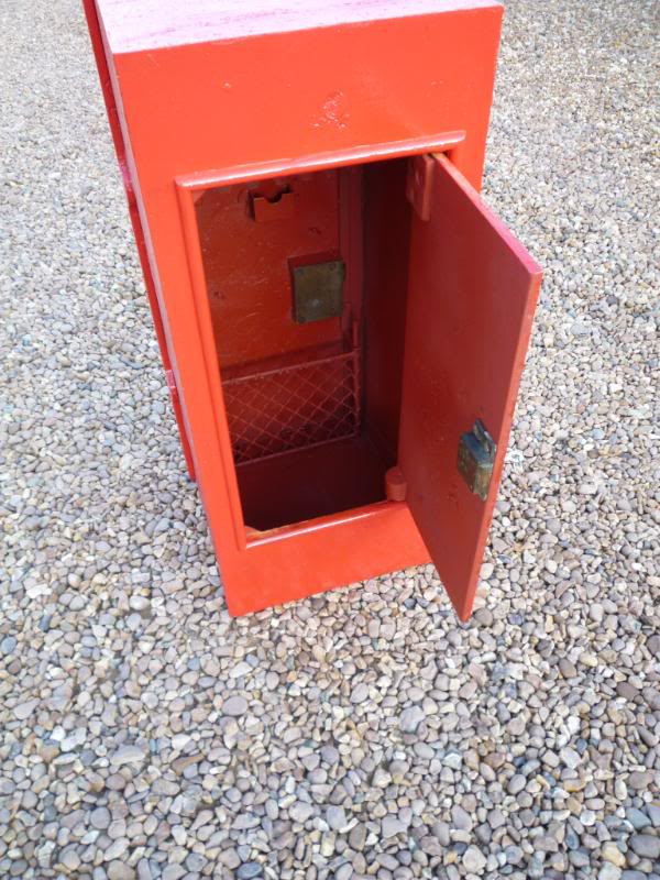 Antique original reclaimed post box used in the post office with a back door are available to view in our showroom