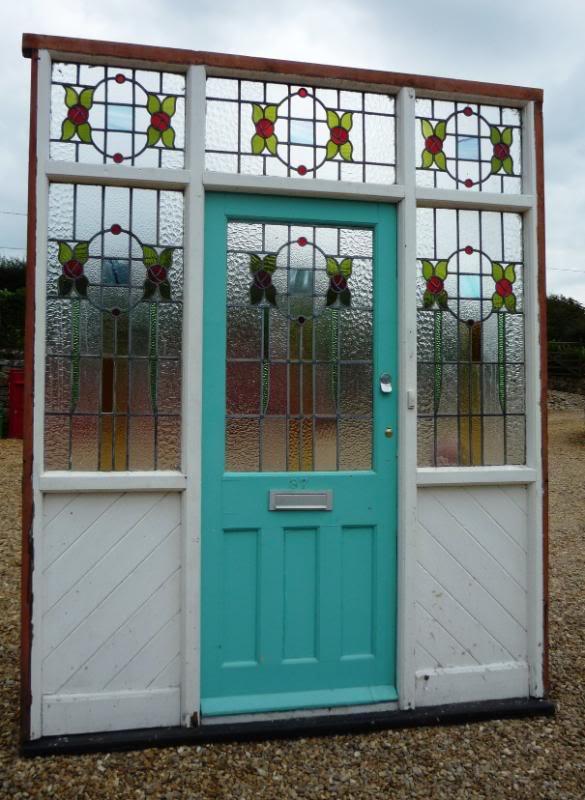 Art Deco Reclaimed Pine Front Door And Surround 4133