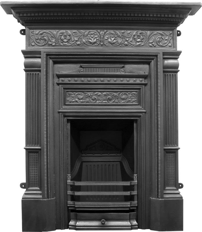 New Traditional Victorian Style Carron Cast Iron Fireplaces Made to Look Like Old Antique Fireplaces