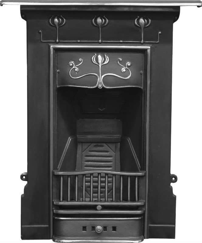 Carron abbot style combination cast iron fireplaces are available in a highlight polish, hand burnished or full polish finishes and ready to view in our yard