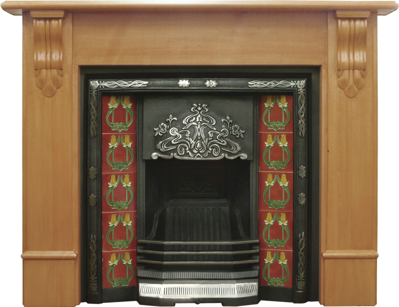 Carron highlight polish daisy cast iron fireplace inserts come with a range of traditional floral hand painted tiles these can be viewed in our warehouse