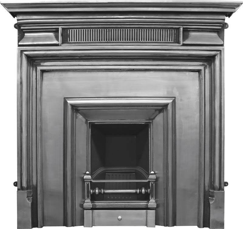 Carron royal cast iron fireplace insert RX127 are available to buy and view in our showroom in black or a full polish finish