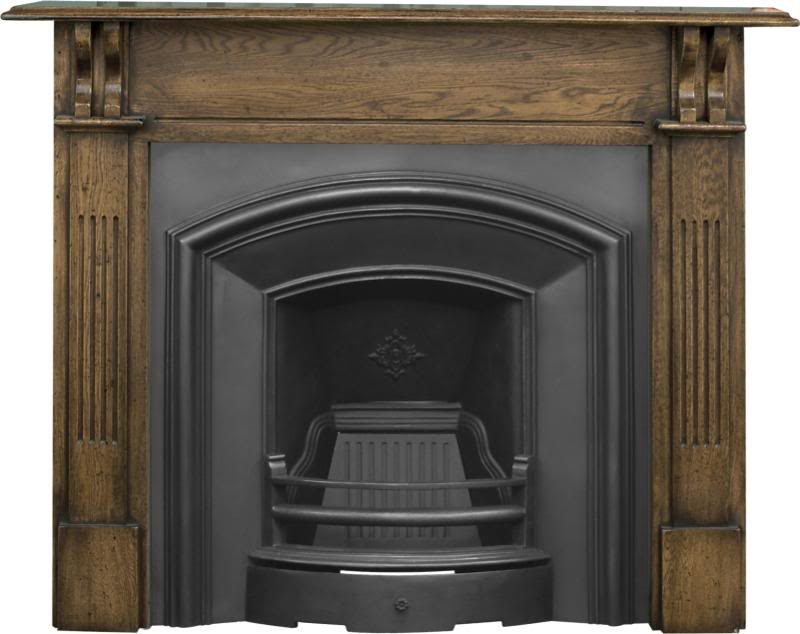 Traditional London plate style RX091 cast iron fireplace inserts made by Carron in a highlight, full polish or black finish ready for a next day delivery