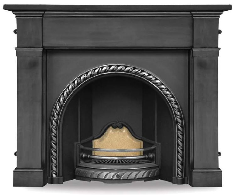 Carron Westminster RX114 highlight polish traditional ornate cast iron fireplace inserts cast from original moulds are in stock ready for delivery worldwide