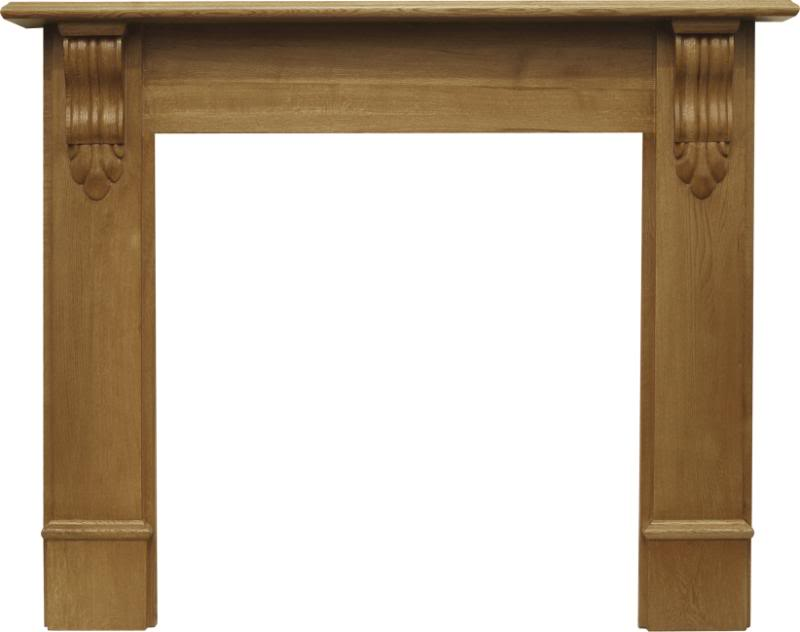 New reproduction solid oak fireplace surrounds are made by Carron to suit traditional Victorian or modern Contempary properties