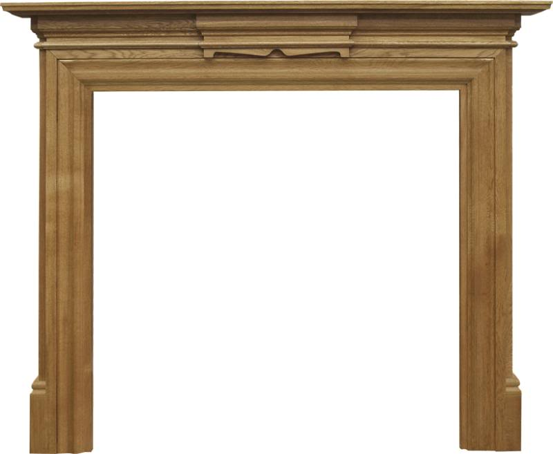 New wooden fireplace surrounds made from reclaimed oak or pine traditionally made to look Victorian are available for delivery worldwide