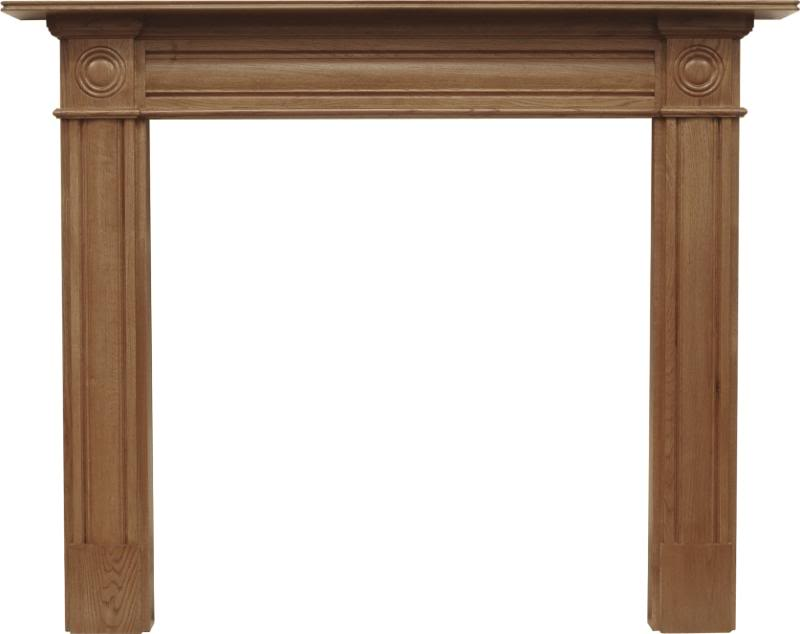 Carron SMC119 Derry solid oak fireplace surround in a waxed finish are in stock in our warehouse ready for you to view