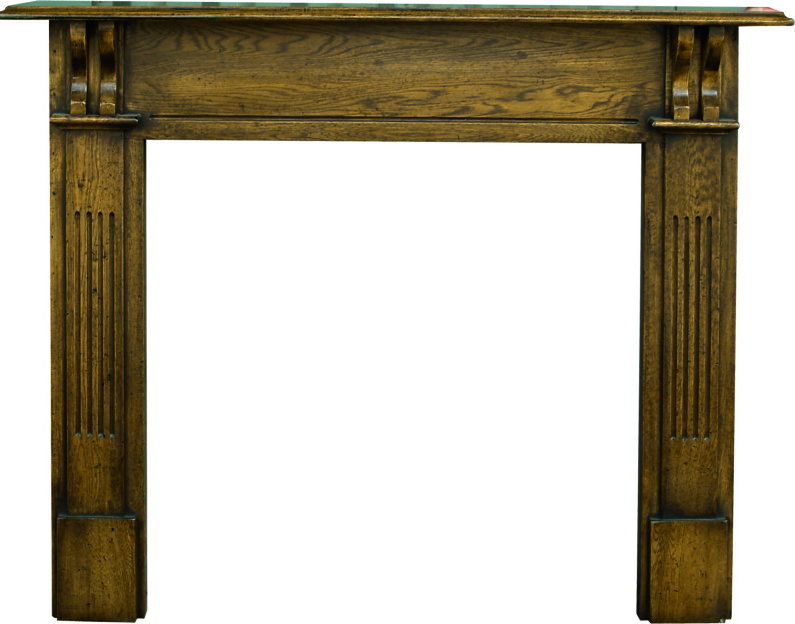 Carron earlswood traditional style distressed solid oak fire surround are in available to view in our showroom