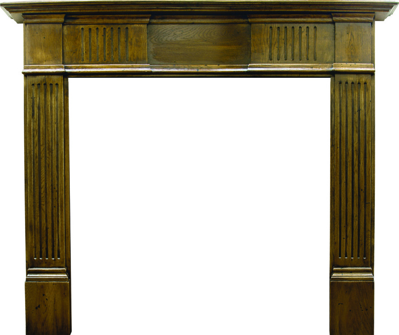 Grosvenor Distressed Solid Oak Fireplace Surround SMC093