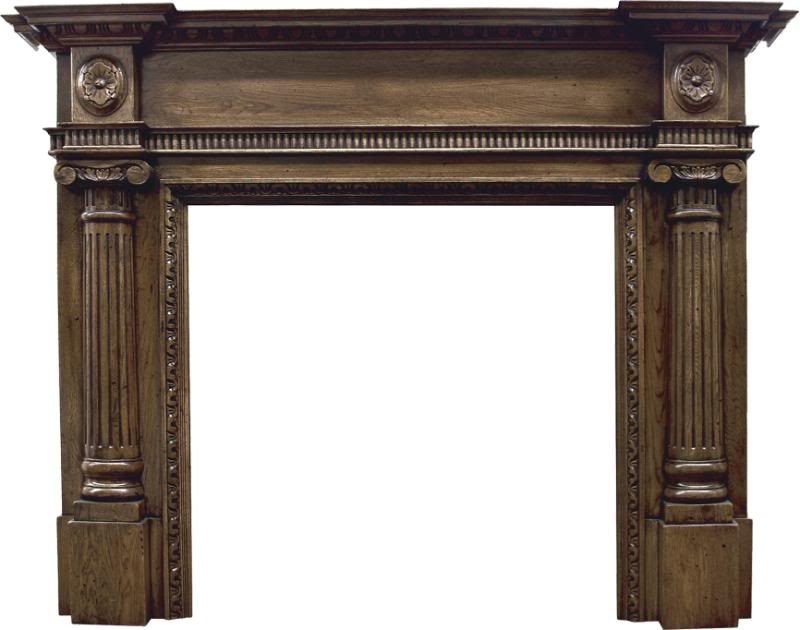 Carron large Ashleigh SMC095 traditional ornate distressed solid oak fire surround traditionally made are in stock ready for delivery worldwide