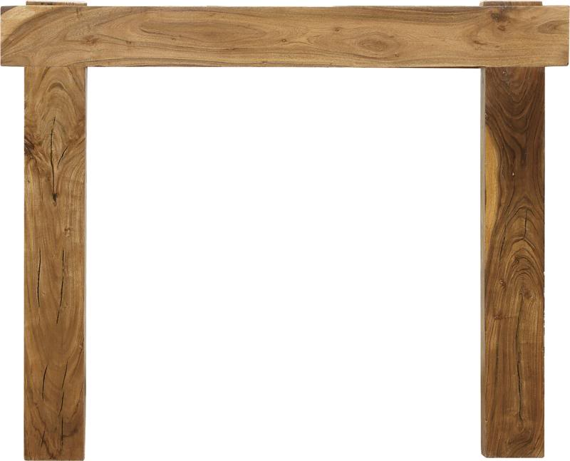 TH554 New York distressed solid acacia fireplace surround made by Carron in stock and ready for delivery worldwide