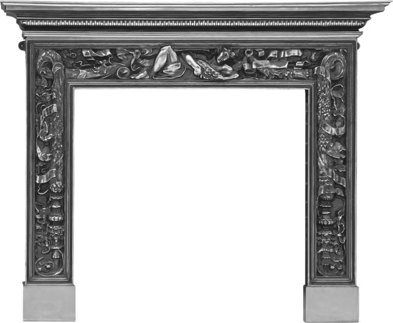 Carron mayfair RX112 full polish cast iron fireplace ornate style made traditionally from old moulds to look like original Victorian fireplaces