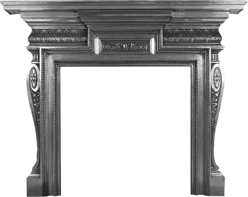 HEB356 or HEB062 black or full polish large Knightsbridge cast iron fireplaces are made by Carron and available to view in our showroom