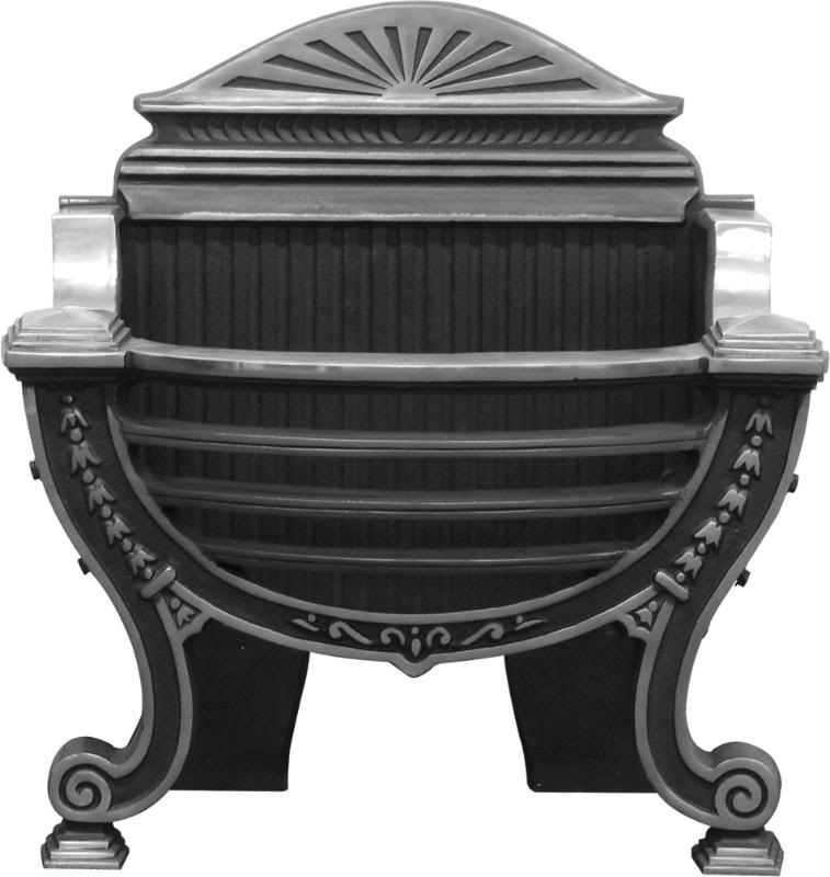Original Victorian Cast Iron black highlight polish dog grates are made by Carron and are cast from original moulds in stock and ready for immediate delivery