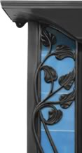 Toulouse Art Nouveau Black Finish Cast Iron Combination Fireplace,Toulouse,RX254,buy,sell,stock,for sale,cast,iron,fireplaces,combination,antique,cast iron,carron,staffordshire,ukaa,uk,architectural,salvage,yard,reclamation,reclaim,cannock wood,