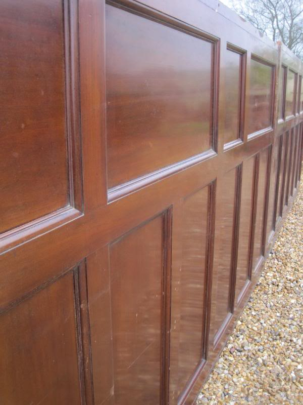 2 Panels Of Antique Reclaimed Mahogany Wall Panelling 4492