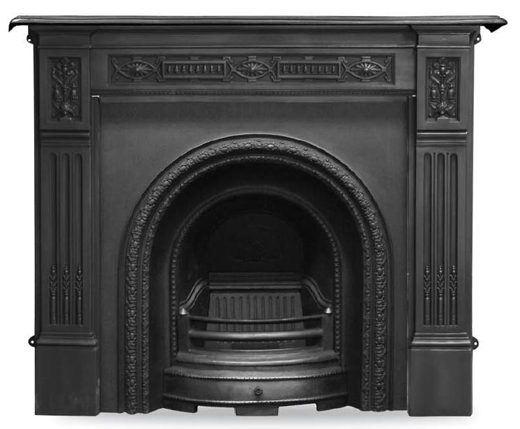 Carron Scotia RX087 curved black cast iron fireplace insert is a early Victorian style and will suit any traditional period property