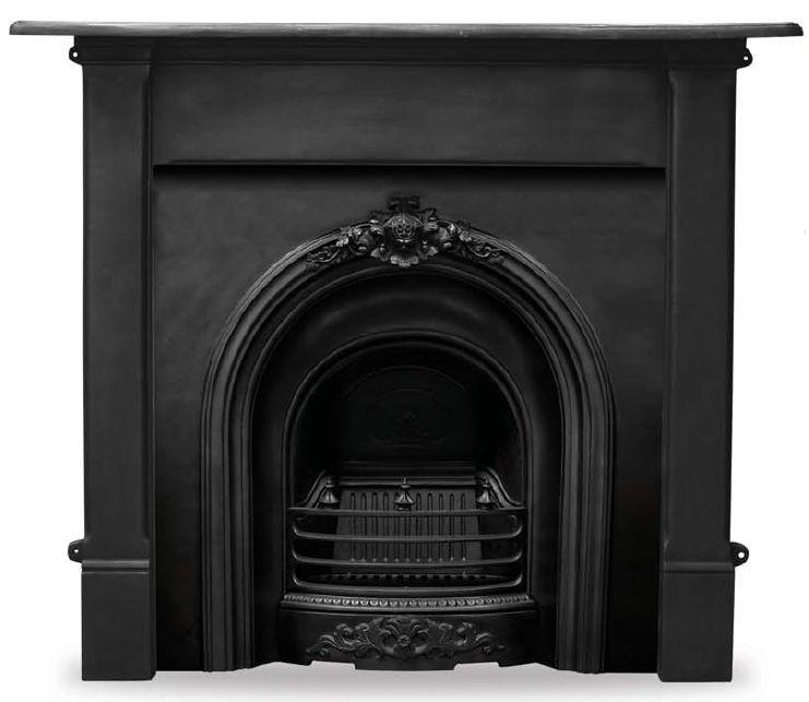 Carron prince RX088 traditional cast iron fireplace inserts are available in a black finish and ready for you to view in our showroom