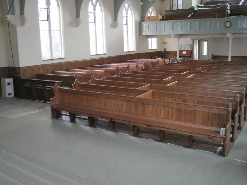 Original Antique Traditional Refurbished Pews Ready Use In A Restaurant