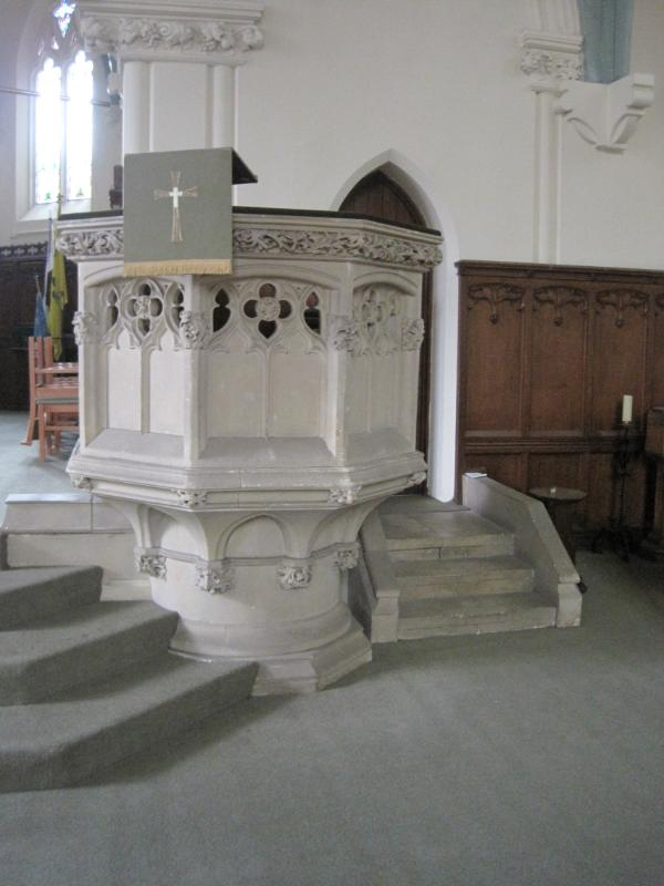 Antique Original Stone Church Pulpit  For Sale From a Church In Sutton Coldfield