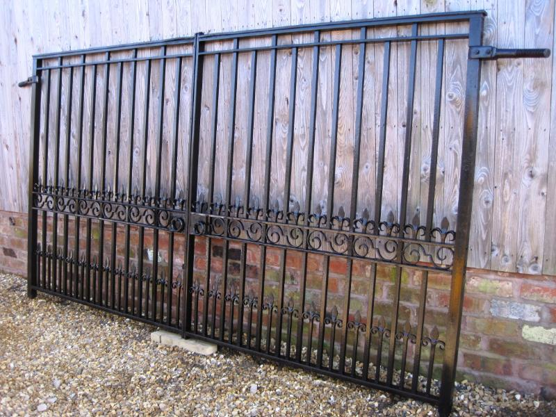 Reclaimed Antique Cast And Wrought Iron Driveway Gates