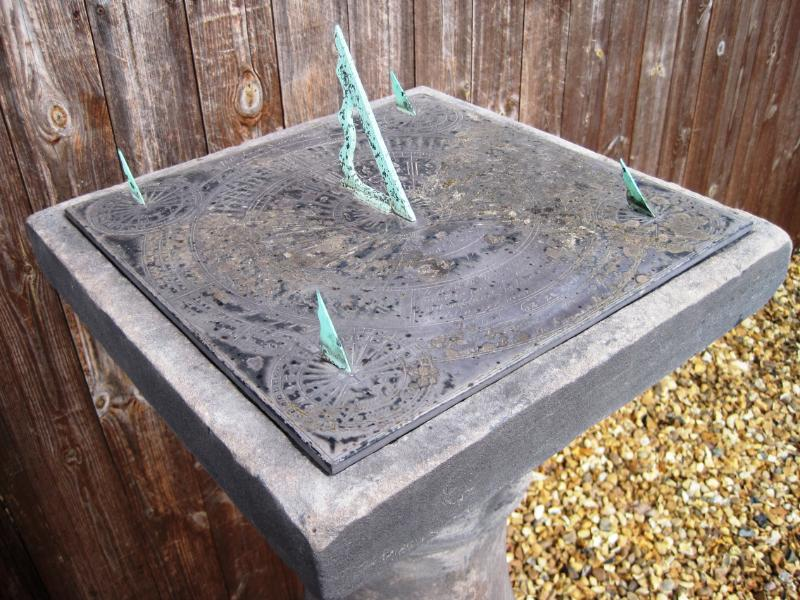 Vintage reclaimed garden sundials for sale at UKAA made from copper, stone and re constituted stone ideal for gardens and patios
