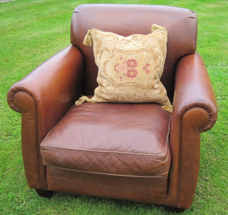 Laura ashley low backed leather chair 3290b - Laura ashley office chair ...