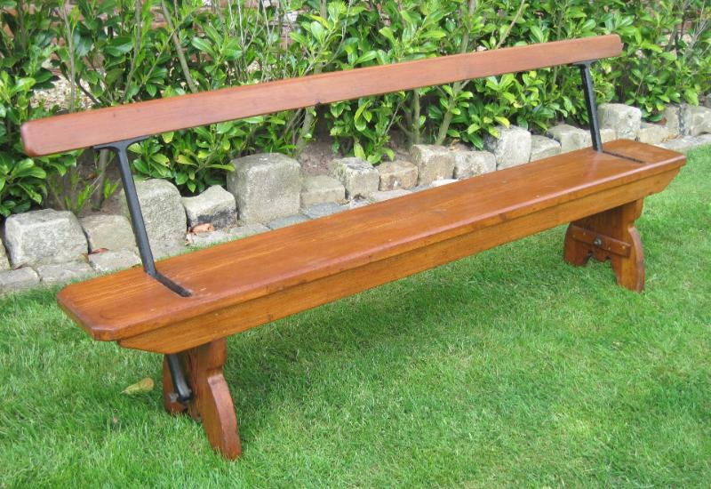 Antique Victorian Pitch Pine Original Bench With Moveable Back rest ready for delivery worldwide