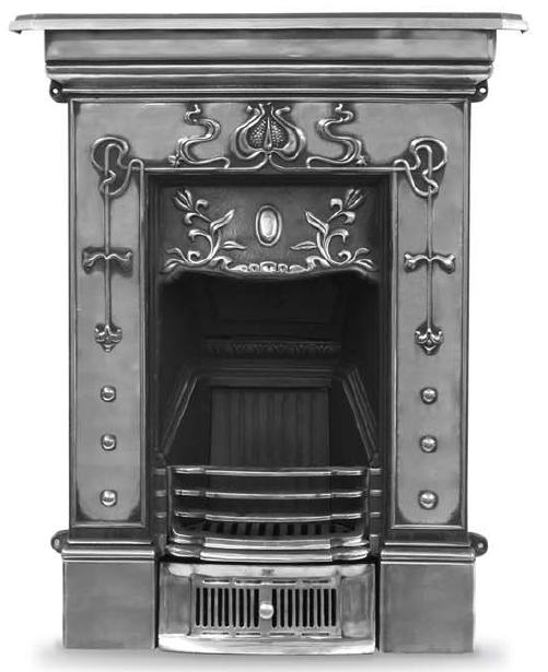 Traditionally made from old moulds Carron cast iron fireplaces are available in black, highlight polish and full polish and are available for delivery worldwide