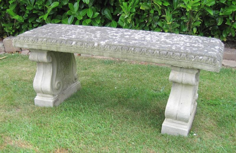 Original garden antiques statues benches features Stone garden bench