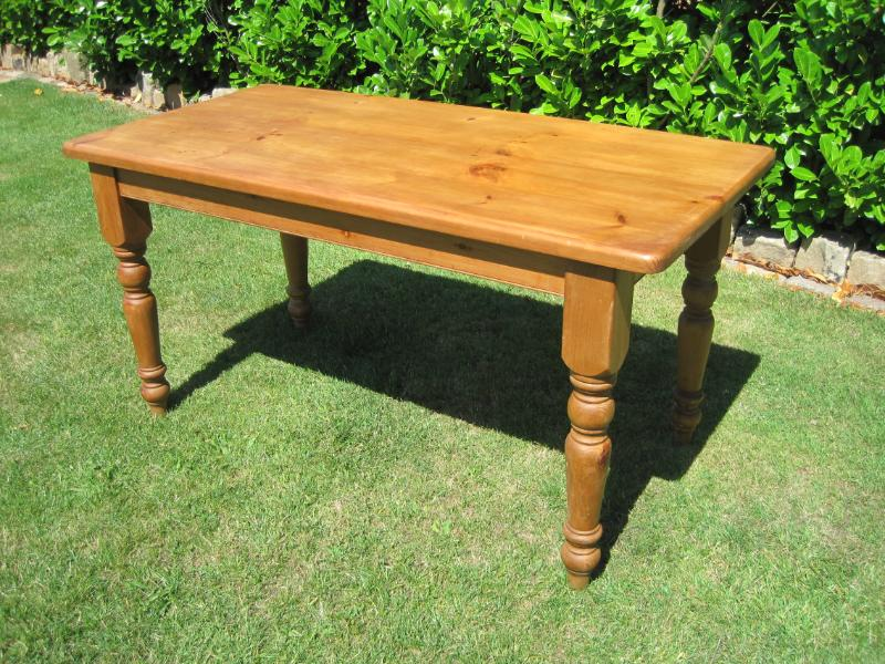 Antique Reclaimed Pine Dining Turned Leg Table 4841 : 31320 from ukaa.com size 800 x 600 jpeg 133kB