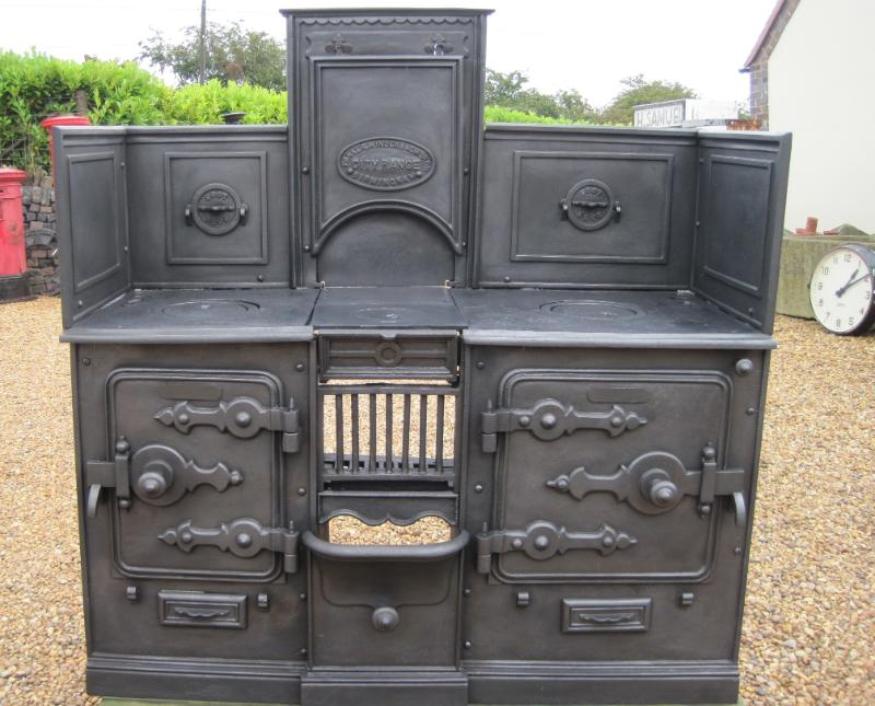antique reclaimed victorian cast iron kitchen range ebay
