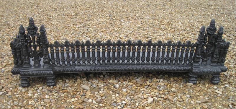 Victorian cast iron fireplace fender | Unusual or antique ...