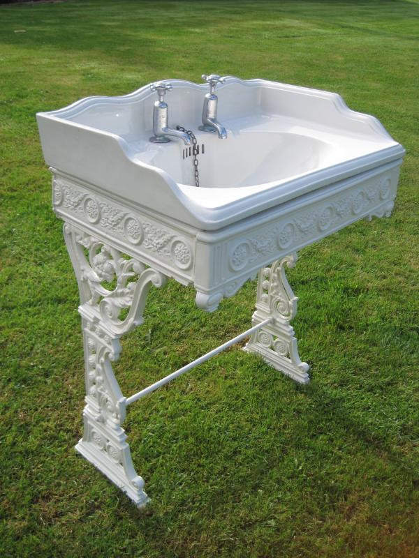 Bathroom Sink With Stand : ... of an Original Antique Victorian Bathroom Sink with Cast Iron Stand