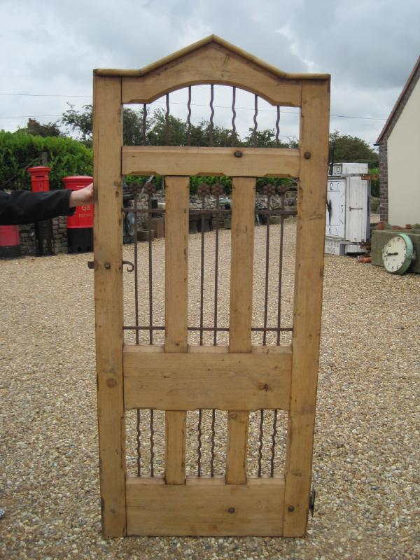 Original antique reclaimed salvaged timber pedestrian gate fully refurbished and ready for immediate delivery