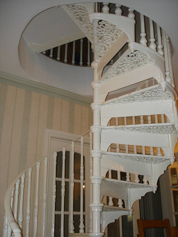 Antique Old Reclaimed Safety Stairways Spiral Staircase Ready to be fitted in a narrow space