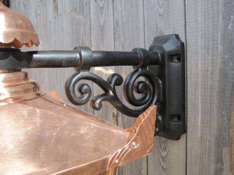 Copper,New Victorian Wall Mounted Hanging Lantern and Bracket Set,victorian,hanging,wall,mounted,mount,cast iron,lantern,ukaa,uk,for sale,shop,online,buy,sell,architectural,garden,cannock wood,bracket