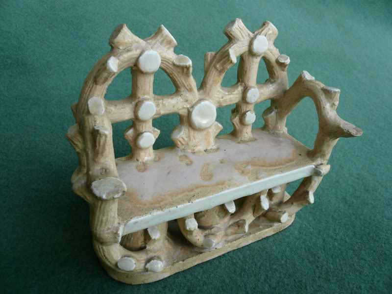 original antique traditional Victorian salesman miniature samples of garden furniture such as benches, chairs and tables are in stock and ready to view
